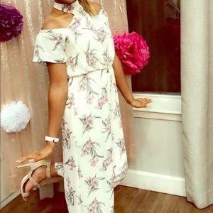 White floral jumpsuit!